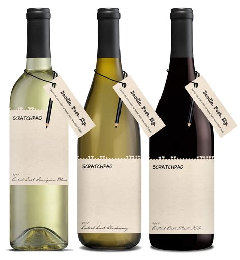 design your own wine label with scratchpad wines