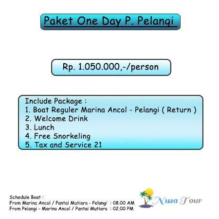 Paket Pelangi pulau pelangi kepulauan seribu harga paket wisata promo