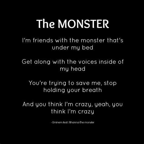 monster under my bed lyrics quot the monster quot eminem feat rihanna lyrics eminem still