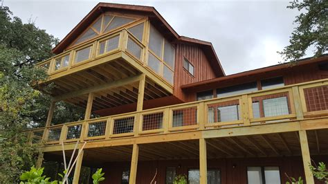 two story deck two story back deck in lake travis pedernales construction