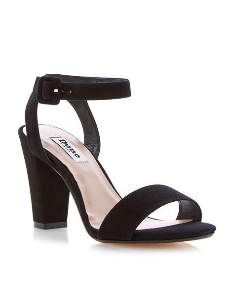 block heel black sandals dune harpers suede ankle block heel sandals in black