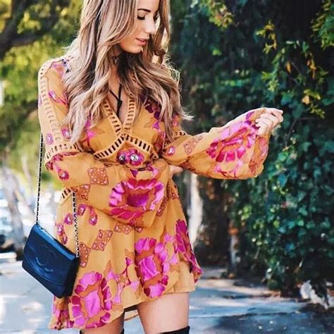 aseso 2017 new for dresses summer chiffon floral print dress sleeve