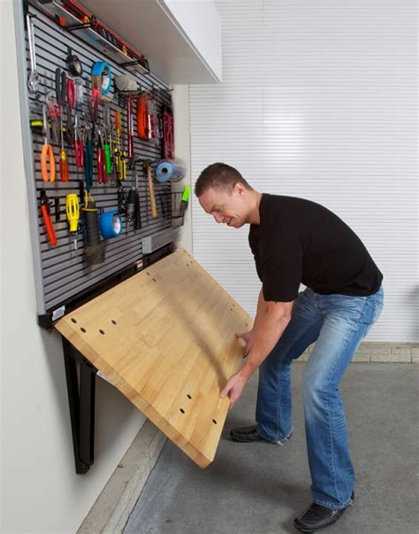 wall mounted folding work bench ditch the workbench legs bench solution folding workbench