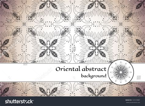 vintage pattern place card with vintage floral oriental pattern place for your