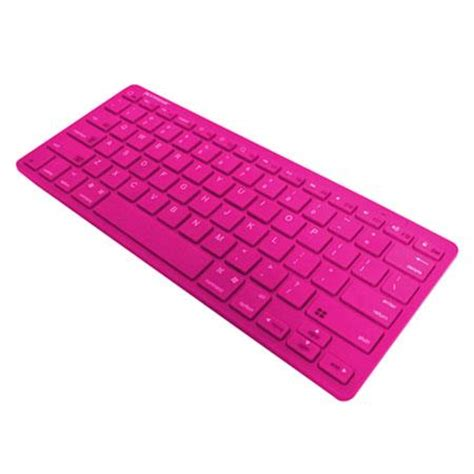 xtreme cables bluetooth wireless keyboard, 33' range, pink