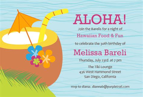 hawaiian menu template hawaiian invitations theruntime