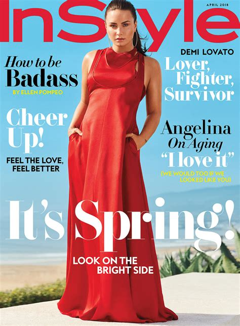 I This On In Style Magazines Site What Is In Your Bag by Demi Lovato Covers Instyle S April Issue Tom Lorenzo