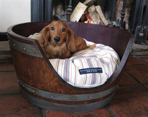 wine barrel dog bed the gilded horn dog bed from a wine barrel