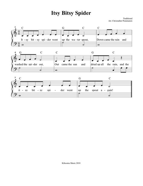 pin by kiboomu kids songs on kids songs pinterest free sheet music itsy bitsy spider sheet music and song