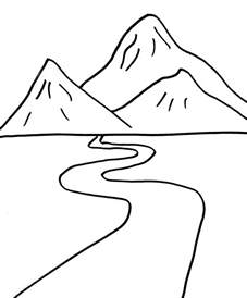 mountains coloring page journey tales concert stuff