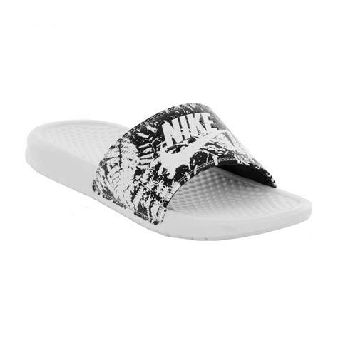 nike benassi jdi print slide sandals nike nike womens benassi jdi print slide flip flops white