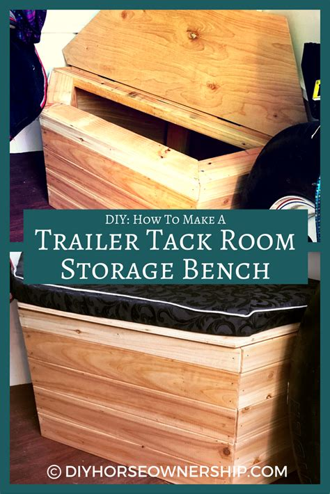 how to make a storage bench diy how to make a storage bench for your trailer tack