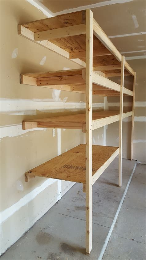 garage shelves plans white garage shelves diy projects