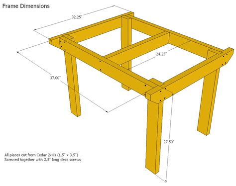 outdoor table wood plans diy sinpa