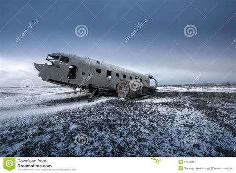 House Building Plans And Prices by Plane Wreck On The Black Beach In Iceland Stock Photo