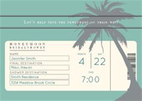 Honeymoon Shower Invitations by 1000 Ideas About Honeymoon Shower On