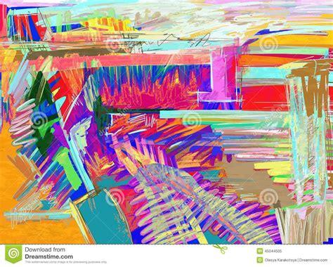 original abstract original abstract digital painting stock vector image