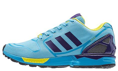 Adidas Zx Flux Asym Collegiate Purple Original 100 adidas zx flux techfit cyan purple the sole supplier