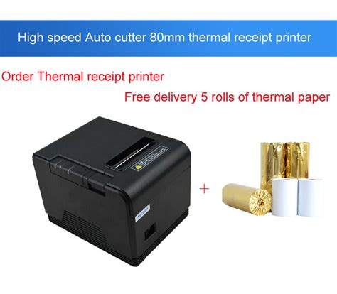 original 80mm cutter small ticket printer pos printer