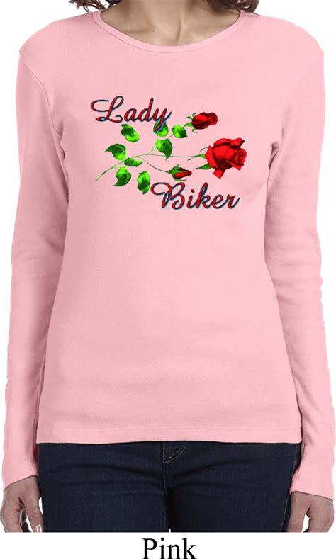 buy womens biker ladies biker shirt lady biker long sleeve tee t shirt
