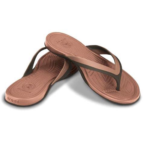 Crocs Sandalen by Crocs Adrina Flip Toe Separator Sandal Black Brown