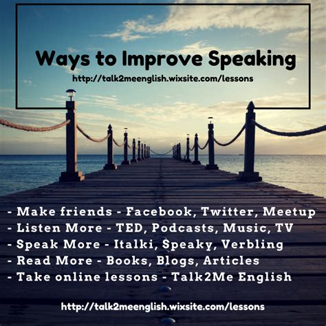 talk2me how can i improve my speaking