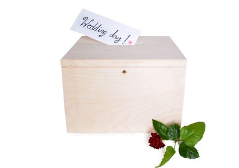 Large Wedding Gift Card Box - large wedding cards box with key money box bank voting urn