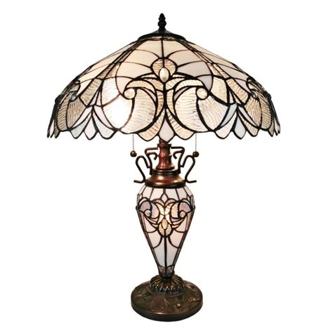 Amazon Kitchen Faucets by Amora Lighting 23 In Tiffany Style Floral Finish Double Lit Table Lamp Am203tl18 The Home Depot