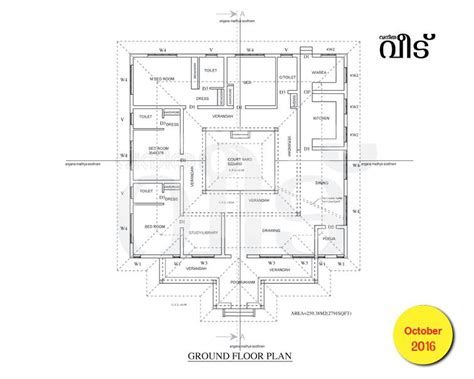 vasthu bedroom 2791 square feet 3 attached bedroom kerala vasthu traditional home design and plan