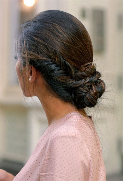 best 25 braided side buns ideas on low side buns updos with braids and chignon