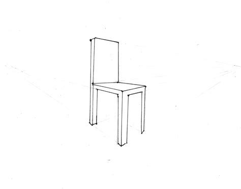 How To Draw A Chair by Perspective Chair Drawing