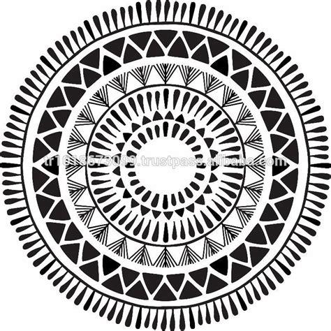aztec pattern round beach towel with tassels circle towel