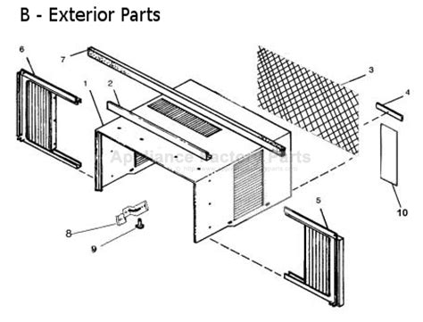 Comfort Aire Air Conditioner Manual by Parts For Rec 71 A Comfort Aire Air Conditioners