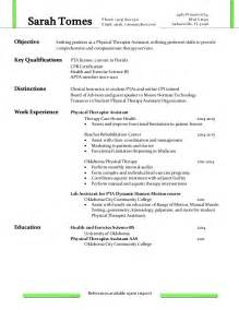 14 Physical Therapy Assistant Resume Resume entry level