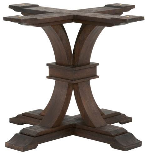 dining table base rustic java transitional