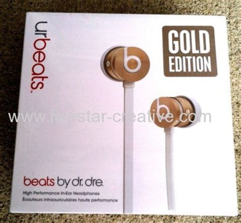 beats by dr dre urbeats limited edition new gold with