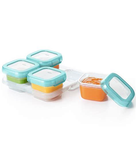 oxo tot baby blocks freezer storage containers 4 oz aqua