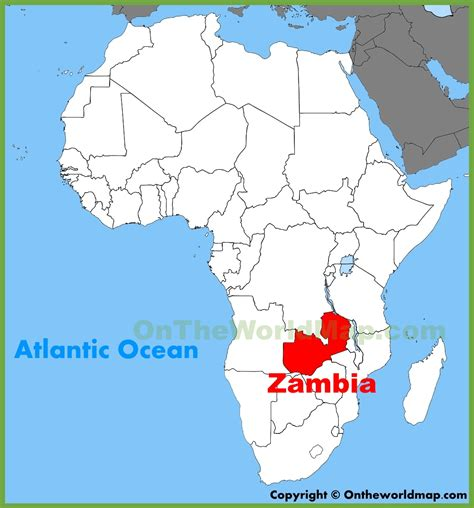 africa map zambia zambia location on the africa map