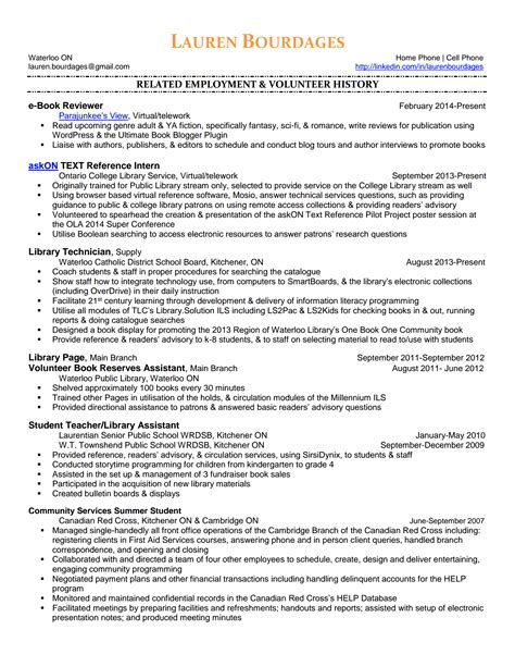 Best Entry Level Resume by Youth Services Hiring Librarians