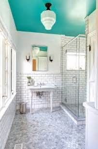 bathroom ceiling ideas 25 bathrooms that beat the winter blues with a splash of color