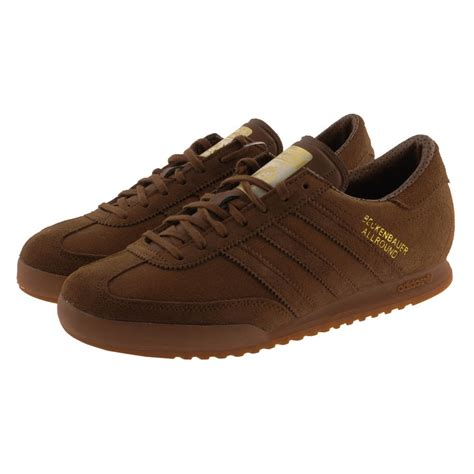 brown adidas sneakers adidas originals beckenbauer trainers bark in brown for