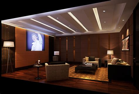 villa home theater interior design 3d house