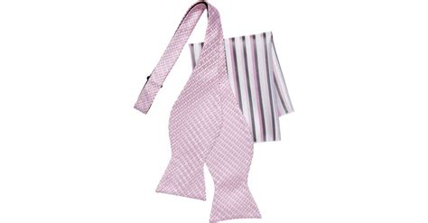Ck Bow Pink calvin klein pink geometric bow tie pocket square set