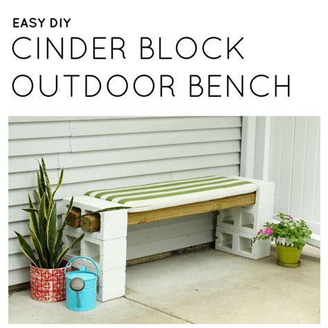 easy diy outdoor bench  cinder blocks gardens