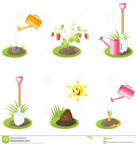 Garden Icon by Set Of Garden Icons For Your Design Eps Images Frompo