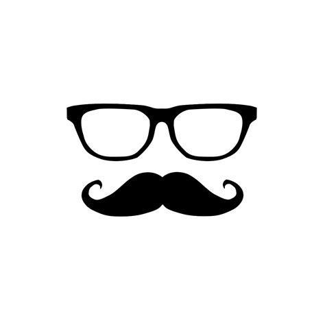 Drawn glasses mustache   Pencil and in color drawn glasses