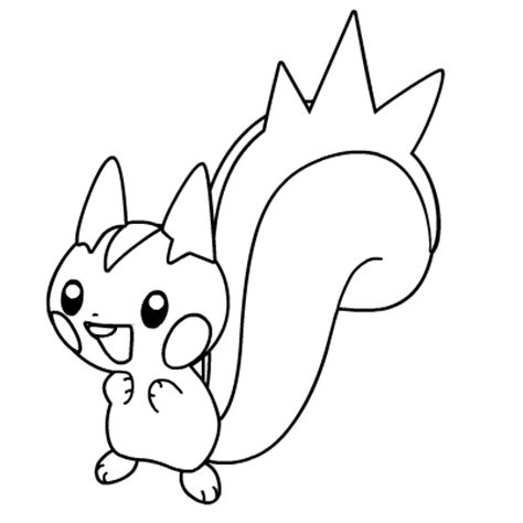 pokemon coloring pages pachirisu pokemon printables