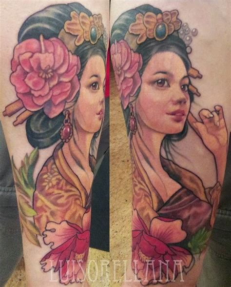 geisha tattoo neo traditional mind blowing geisha tattoos and meanings