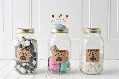 best home gifts popsugar home diy mason jar sewing kit with free printable the polka