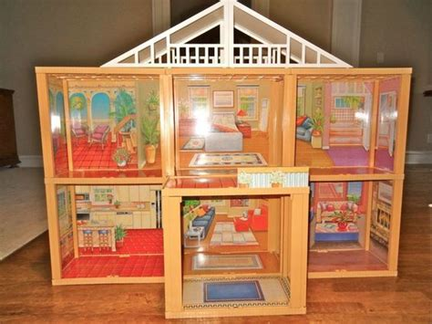 vintage barbie doll house excellent vintage meritus barbie doll house 1984 simple assembly required mansions